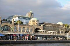 Banques de l'Elbe à Hambourg image libre de droits