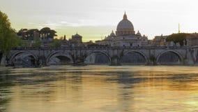 Banques de rivière à Rome, Italie Photo libre de droits