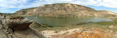 Banques des peu de vallées de lac bow Photos stock