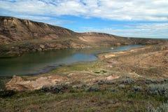 Banques des peu de vallées de lac bow Images stock