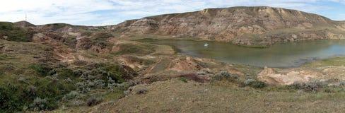 Banques des peu de vallées de lac bow Photo libre de droits