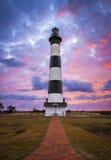 Banques externes OR de bord de la mer national de Bodie Island Lighthouse Cape Hatteras Image stock