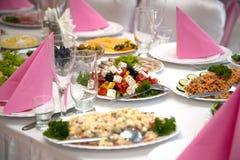 banquet таблица еды Стоковое фото RF