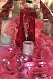 Banquet. Table pink decorated Royalty Free Stock Photos