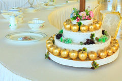 Banquet apple cake Royalty Free Stock Photo