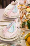Banquet in cafe. Royalty Free Stock Photography