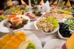 Banquet in cafe. Stock Photos