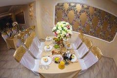Banquet décoré de mariage Photographie stock libre de droits