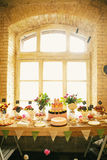 Banquet de bonbons à mariage Photos stock