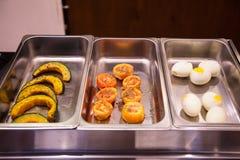Banquet de buffet de service de restauration de nourriture de restaurant d'hôtel pour des cérémonies de mariage, le séminaire, la photographie stock