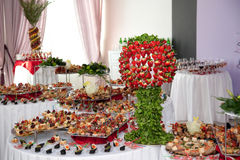 Banquet dessert table Stock Image