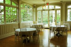 Banquet or dining hall Stock Photo