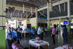 Banquet for elderly people Stock Photo