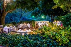 Banquet et maison et arrière-cour historiques classiques d'événement Images libres de droits