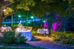 Banquet et maison et arrière-cour historiques classiques d'événement Images stock