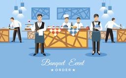 Banquet Event Concept. Vector Flat Illustration. stock illustration