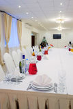 Banquet facilities table setting Stock Photography