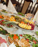 Banquet festive food Stock Image