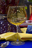 Banquet glass and table Stock Image