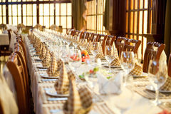 Banquet hall. Served table in banquet hall Stock Photography