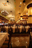 Banquet Hall. Beautiful Banquet Hall ready to serve dinner Royalty Free Stock Photo