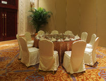 Banquet Hall. In a hotel stock photography