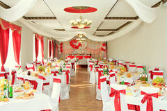 Banquet hall or other function facility set Royalty Free Stock Photos
