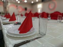Banquet hall for wedding or celebration stock photography