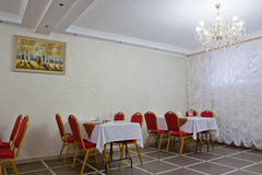 Banquet hall in white color Stock Images