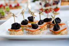 Banquet, luxury food for holyday and event Royalty Free Stock Photos