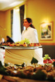 Banquet during a party. A banquet in a restaurant during a party royalty free stock photo