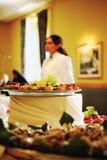 Banquet pendant une partie photo libre de droits