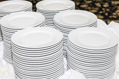 Banquet Plates Royalty Free Stock Photography