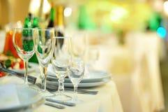 Banquet in restaurant. Wedding banquet in restaurant, served table Stock Image