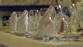 Banquet in the restaurant. stock footage