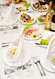 Banquet restaurant table Royalty Free Stock Photos
