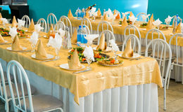 Banquet restaurant table Royalty Free Stock Image