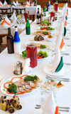 Banquet restaurant table Stock Photography
