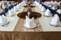 The banquet room Royalty Free Stock Photography