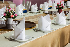 The banquet room Stock Photography
