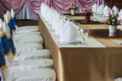 The banquet room Royalty Free Stock Images