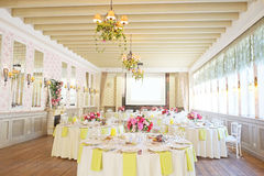 Banquet room Royalty Free Stock Images
