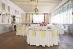 Banquet room Royalty Free Stock Photography