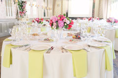 Banquet room Stock Images