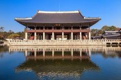 Banquet royal Hall de Gyeonghoeru photo libre de droits