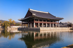 Banquet royal Hall de Gyeonghoeru photographie stock