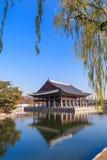 Banquet royal Hall de Gyeonghoeru image stock