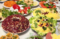Banquet salads Royalty Free Stock Photography