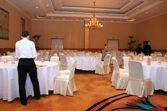 Banquet staff at work Stock Images