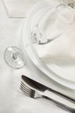 Banquet table. With glass of fizz Stock Photography